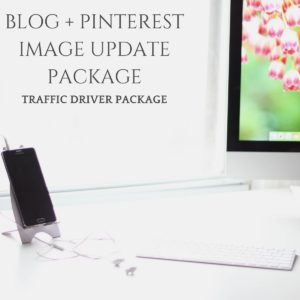 BLOG + PINTEREST IMAGE UPDATES - TRAFFIC DRIVER PACKAGE