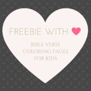 FREEBIE - Bible Verse Coloring Pages for Kids
