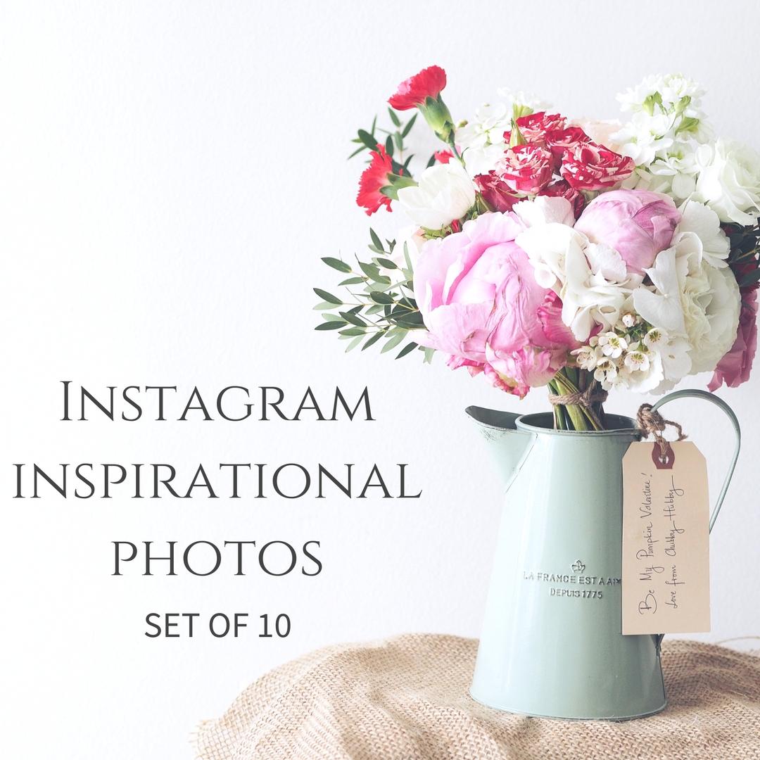 Instagram Inspirational Photos - Set of 10