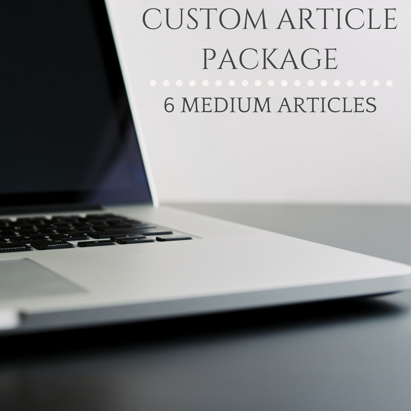 CUSTOM ARTICLE PACKAGE 6 MEDIUM ARTICLES
